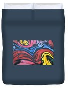 Colorful Urban Street Art From Singapore Duvet Cover