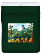 Colorful View Of Idyllwild California Duvet Cover