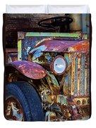 Colorful Vintage Car Duvet Cover