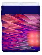 Colorful Waves Abstract Fractal Art Duvet Cover