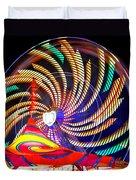 Colorful Wheel Of Lights Duvet Cover
