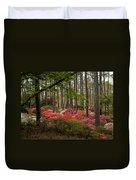 Colorful Woodland Azalea Garden Duvet Cover