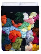 Colorful Yarn Otavalo Market Ecuador Duvet Cover