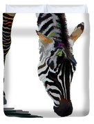 Colorful Zebra 2 Duvet Cover
