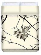 Colorless Autumn Duvet Cover