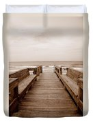 Colorless Seascape Duvet Cover