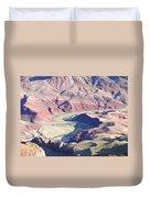 Colorodo River Flowing Through The Grand Canyon Duvet Cover
