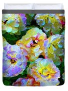Colors And Roses Duvet Cover