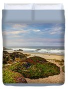 Colors And Texures Of The California Coast Duvet Cover
