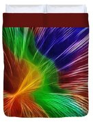 Colors Lines And Textures Duvet Cover