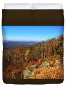 Colors Of Autumn In Shenandoah National Park Duvet Cover