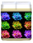 Colors Of Cactuses Duvet Cover