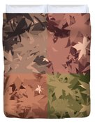 Colors Of Fall Leaves Abstract Duvet Cover