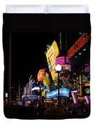Colors Of Las Vegas Duvet Cover