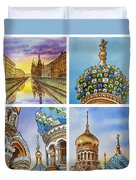 Colors Of Russia Church Of Our Savior On The Spilled Blood  Duvet Cover
