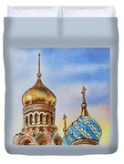 Colors Of Russia St Petersburg Cathedral Iv Duvet Cover by Irina Sztukowski