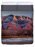 214501-colors Of Sandia Crest  Duvet Cover