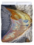 Colors On Rock Duvet Cover