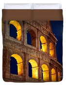 Colosseum And Moon Duvet Cover by Inge Johnsson