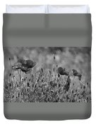 Colour Blind Poppies 2 Duvet Cover