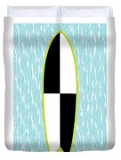 Colour Block Surfboard Duvet Cover