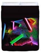 Coloured Chalks  Duvet Cover