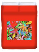 Coloured Leaves By M.l.d. Moerings  2009 Duvet Cover