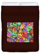 Coloured Oak Leaves By M.l.d. Moerings 2009 Duvet Cover
