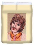 Coloured Pencil Portrait Duvet Cover