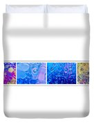 Colourful Bubble Abstract Quadriptych Duvet Cover