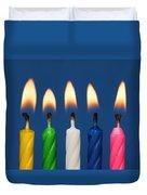 Colourful Candles Lit Duvet Cover
