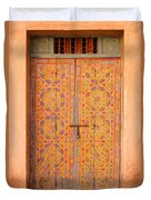 Colourful Entrance Door Sale Rabat Morocco Duvet Cover