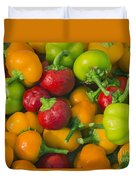 Colourful Mini Bell Peppers Duvet Cover