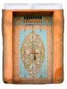 Colourful Moroccan Entrance Door Sale Rabat Morocco Duvet Cover