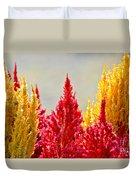 Colourful Plants Duvet Cover