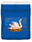 Colourful Swan Duvet Cover