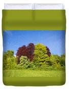 Colourful Trees Duvet Cover
