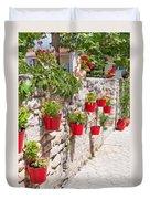 Colourful Flower Pots Duvet Cover