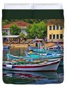 Colours Of Greece Duvet Cover