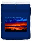 Colours Of Sunset Duvet Cover