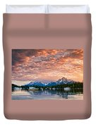 Colter Bay Sunset Duvet Cover