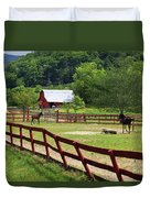 Colts On A Farm Duvet Cover
