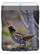 Coltsfoot Ruffed Grouse Duvet Cover
