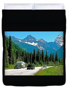 Columbia Mountains In Glacier Np-british Columbia Duvet Cover