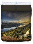 Columbia River Gorge At Sunrise Duvet Cover