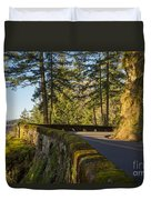 Columbia River Gorge Highway Duvet Cover