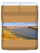Columbia River In Oregon, Viewed Duvet Cover