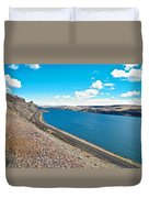 Columbia River Rolls On Between Oregon And Washington  Duvet Cover