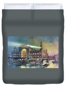 Columbian Expo, Electricity Building Duvet Cover