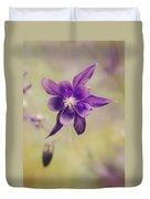 Columbine Flower Duvet Cover